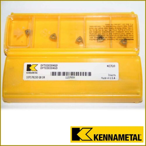 DFT 030304GD KC720 KENNAMETAL *** 10 INSERTS *** FACTORY PACK ****