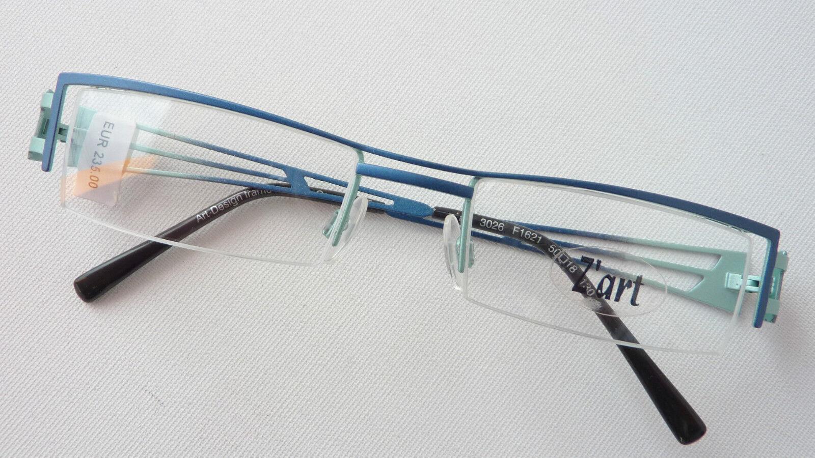 Ausgefallene Brille schmal Markenbrille Herren Brillenfassung petrol Grösse M M M   Reparieren  28e660