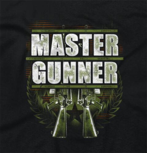 Maître Canonnier USA Shirt Cool Idée Cadeau 2nd amendement pistolet USA V-Neck T Shirt