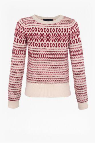 French Connection Esme Fairisle Jumper 78KBF BNWT Designer Womens Knitwear