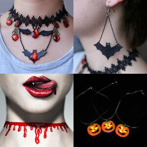 Halloween-Vintage-Gothic-Retro-Choker-Collar-Bib-Necklace-Charm-Pendant-Jewelry