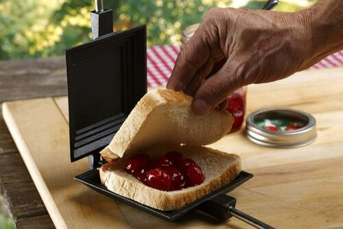Details about  /27-INCH CAST IRON SQUARE Campfire Grill Pudgie Sandwich Cooker Pudgy Pie Maker