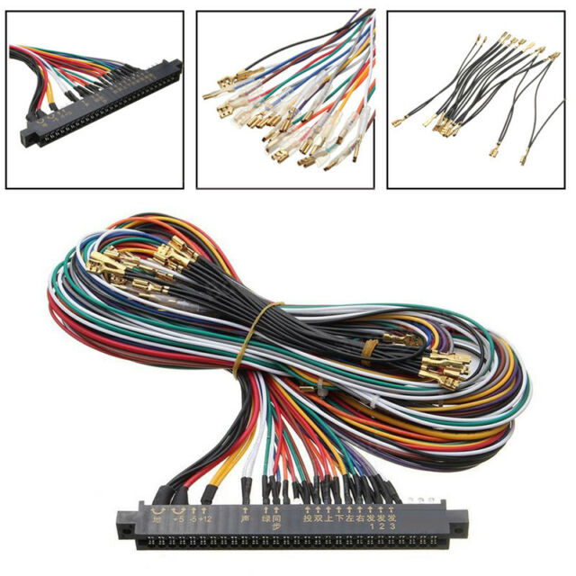 jamma plus board full cabinet wiring harness loom for jamma rh ebay com Harness Board Nails Car Wiring Harness