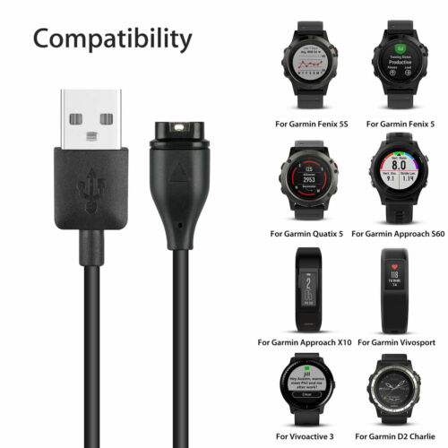 Garmin Instinct Charger Replacement Charging Cable Cord USB