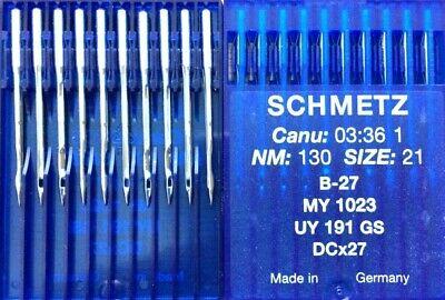 SCHMETZ I NM:100 SIZE 16 B-27 DCX27 INDUSTRIAL OVERLOCKER  SEWING MACHINE NEEDLE