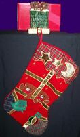Applique Bears Christmas Stocking With Coordinating Ceramic Holder