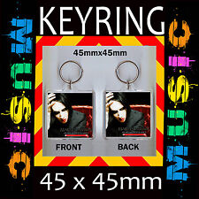 MARILYN MANSON-HEART SHAPED GLASSES-CD COVER  KEYRING-KEY CHAIN 45X 45 mm #2