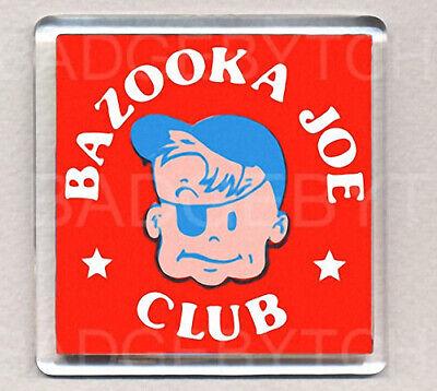 BAZOOKA JOE CLUB FRIDGE MAGNETS RETRO COOL!