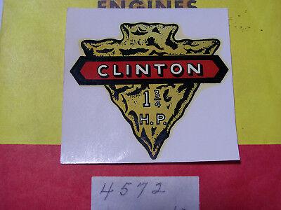 Clinton Small Gas Engine 1 3//4 H.P ARROWHEAD DECAL N.O.S.