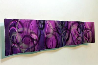 Metal Abstract Modern Wall Art Sculpture Purple Majesty Wave Jon Allen