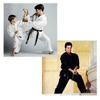 Halloween Costume Karate Uniform White Black W/ White Belt W/headband Kids Adult