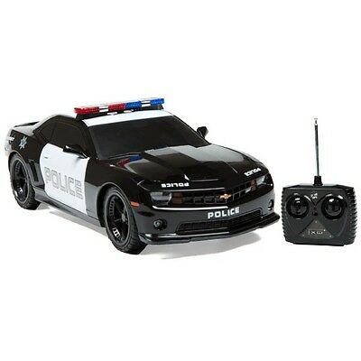 1:18 Licensed Chevrolet Camaro Police Car RC Radio Remote Control w/Light R/C