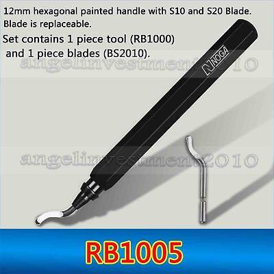2 set  New NOGA EO2000 Rapid-burr /& stainless steel BS1010 blade Deburring Tool