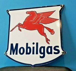 VINTAGE-MOBIL-GASOLINE-PORCELAIN-METAL-GAS-SERVICE-PUMP-PEGASUS-MOTOR-OIL-SIGN