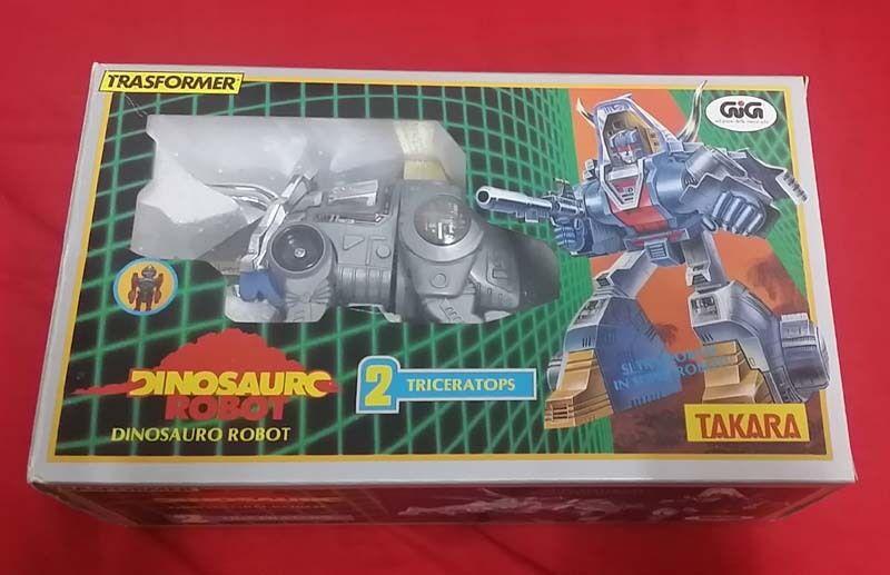 Selten neue mib takara japan auftritt dinosaurier - roboter triceratops g1 transformers schlacke
