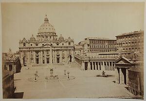 Intelligent La Place Saint Pierre à Rome Italie Vintage Albumine, Ca 1880