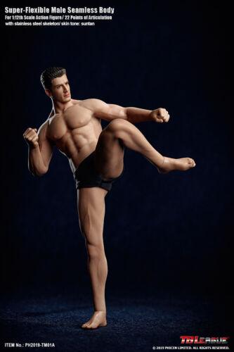 Tbleague 1//12 Corpo Maschile /& Testa modello TM01A flessibile Action Figure Bambola Giocattolo