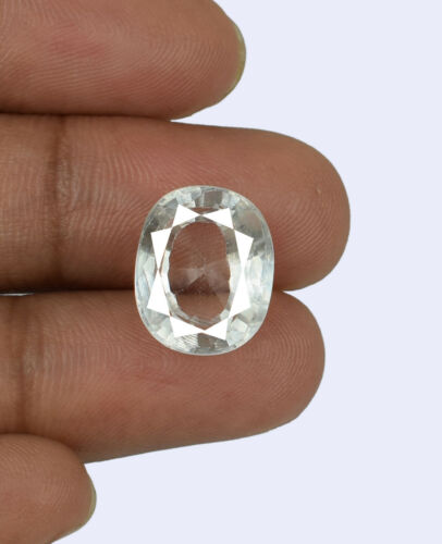 Oval White Sapphire Natural Gemstone 8.45 Ct Transparent Bumper Offer Certified