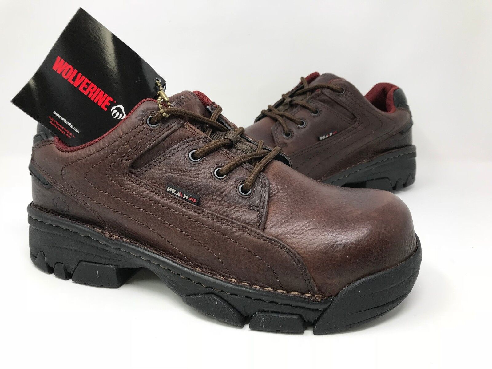 New  Womens Wolverine W02674 Ayah Composite Toe wide width Work Oxford MB