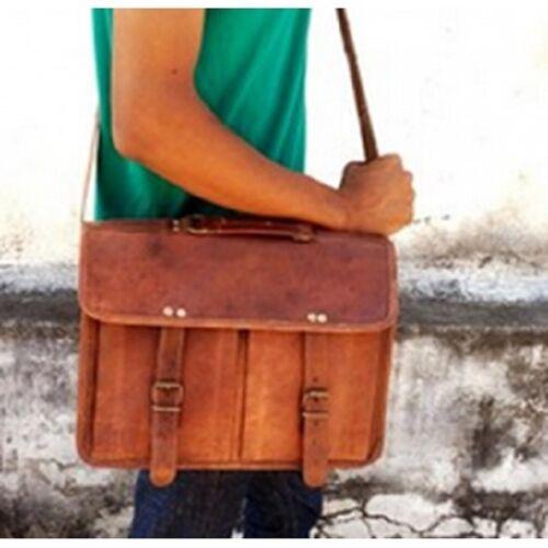 pour Sacoche Leather Laptop Sac ordinateur 18 vintage Men's cuir Rich RichVintage Case homme ordinateur portable pour portable bandoulière de Messenger Shoulder Notebook Bag pour à pouces en bf76gvyY