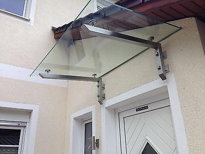 "Baustoffe & Holz Edelstahl Glas Vordach ""columbia"" Vordächer Inkl Glas Der Preis Bleibt Stabil Vordächer"
