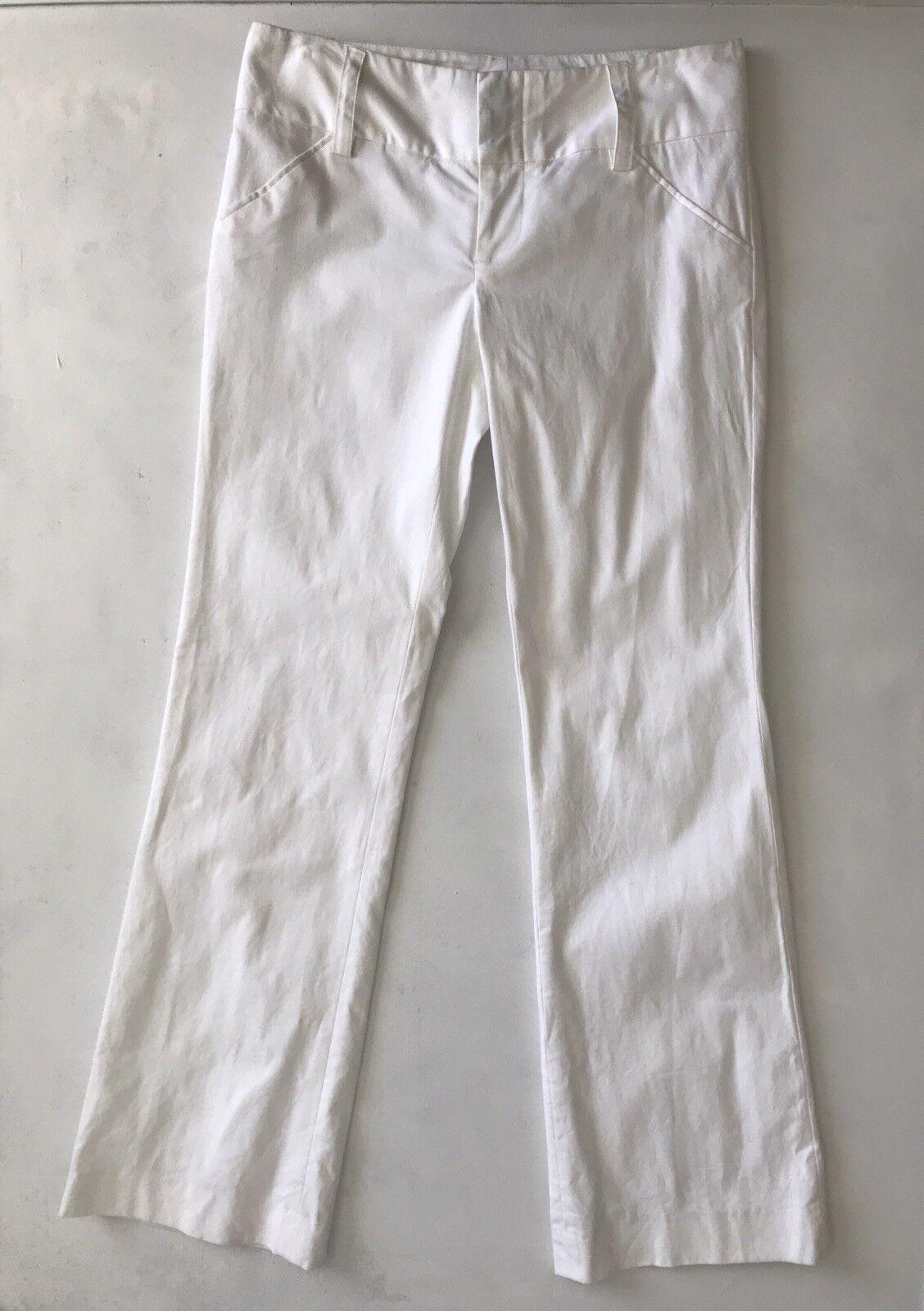 Alice + Olivia Women's White Wide Leg Pants - Size 8