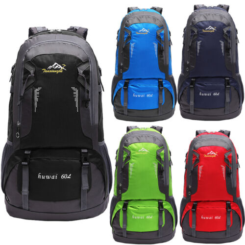 60L Backpack Rucksack Bag Waterproof Outdoor Camping Climbing Hiking Travel
