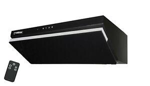 ph nix h 60g dunstabzugshaube 60cm glas schwarz schr g wandhaube led touch fb ebay. Black Bedroom Furniture Sets. Home Design Ideas