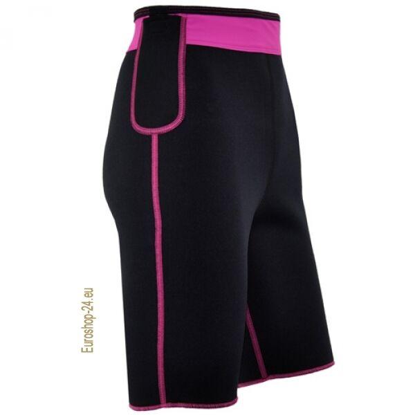 Fitness-Shorts aus Neopren mit Biokeramik, Black/Pink, Sport, Delfin Spa