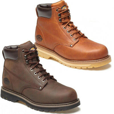 29f130b1d05 MENS DICKIES WELTON NON-SAFETY LEATHER LACE UP BOOTS ANKLE HIKING SHOES  WORK SZ   eBay