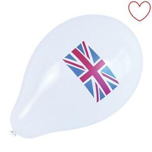 Festival-Paquet-De-10-Union-Jack-Ballons-Fete-Angleterre-St-George