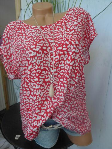 34 bis 48 Kurzarm Cheer Viskose Shirt Bluse Gr weich fallend NEU 003