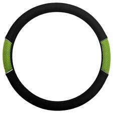 Green Black Steering Wheel Cover Soft Grip Mesh Look for Vauxhall Corsa