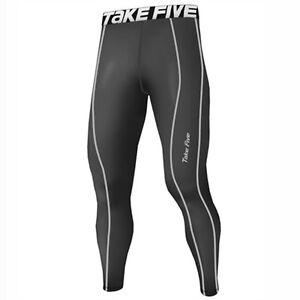 Appris Take Five Homme Doublé Peau Serré Compression Couche De Base Running Pantalon Gris 226-afficher Le Titre D'origine