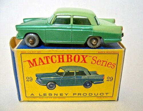 Matchbox RW 29b Austin Cambridge verde verdemet. de argento ruedas  d  Box