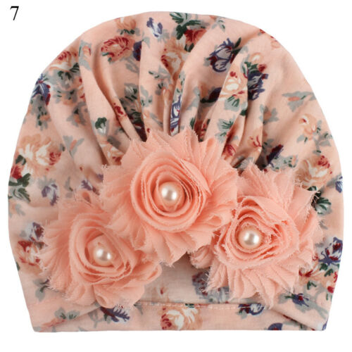 Baby Girl Hat Infant Flower Cotton Bow Turban Beanie Hats Head Wrap For Kids Cap