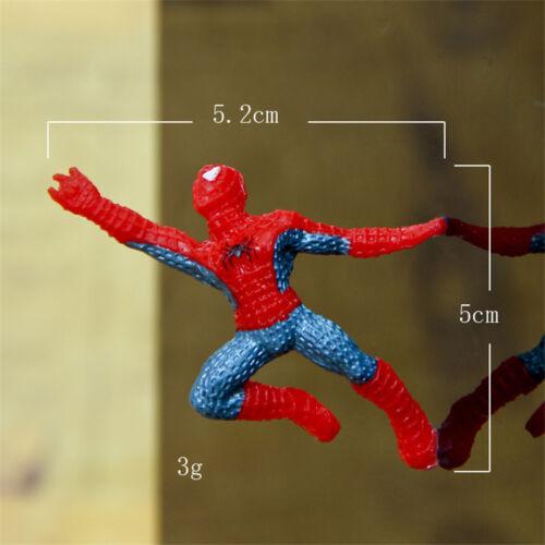 6pcs New Spider-Man PVC Action Different Mini Figures Decoration Toy Kids 4-5CM