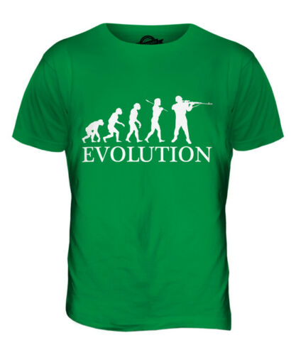 SOLDIER EVOLUTION OF MAN MENS T-SHIRT TEE TOP GIFT CLOTHING