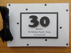 30th birthday guest book photo scrapbook memory book any wording