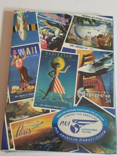 Pan American Airways Vintage Postcard Collection NEW Sealed 2006