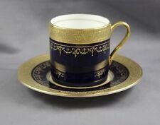 Aynsley China Georgian Cobalt Demitasse Cup & Saucer (s)