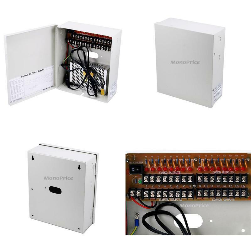 Monoprice 16 Channel Cctv Camera Power Supply - 12Vdc -