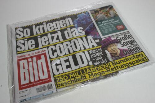 BILDzeitung 26.03.2020 März   Corona     Geld Queen Rettungspaket
