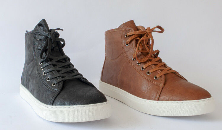 Snow Paw Mens Leather Zip & Lace Merino Wool Lined Work/Walking Trainers Boots