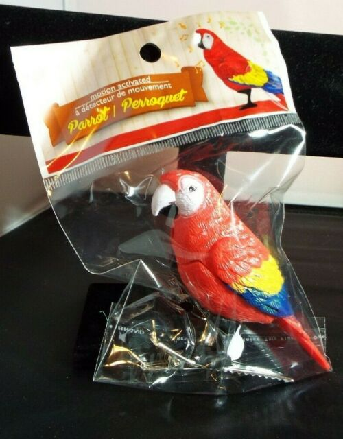 CLIP ON MOTION ACTIVATED CHIRPING PARAKEET NEW IN PACKAGE
