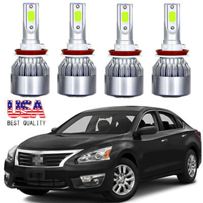 A Set LED Headlight 40000LM High Low Beam Combo Kit For Nissan Altima 2007-2018