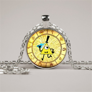 Details about Steampunk Drama Gravity Falls Mysteries BILL CIPHER WHEEL  Pendant Necklace