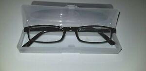 Reading-Glasses-Power-1-50-Black-Half-Frame-Unisex
