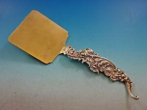 """Shiebler Sterling Silver Waffle Server Gold Washed # 3926 9"""" Other Antique Furniture Antiques"""