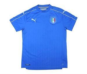 ITALIA 2016-17 ORIGINALE Maglietta (eccellente) L soccer jersey
